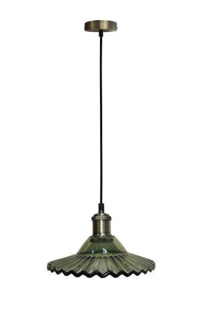 lampa wisząca butelkowa zieleń retro