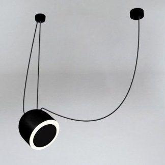 lampa wisząca czarna na regulowanym zwisie