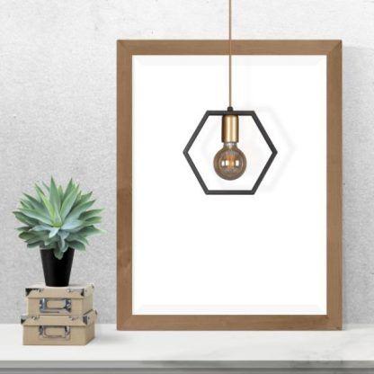 lampa wisząca czarna odsłonięta żarówka