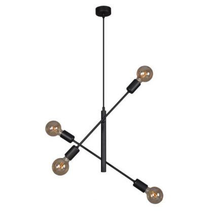 lampa wisząca dwa regulowane ramiona czarna