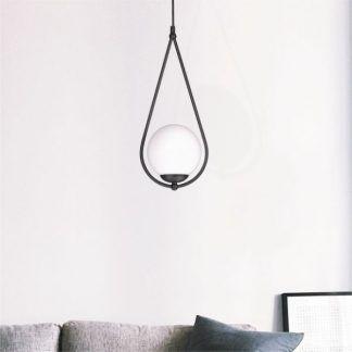 lampa wisząca kropla białe szkło aranżacja