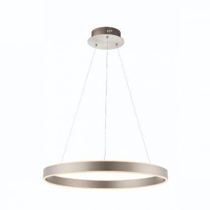 lampa wisząca led ring srebrna
