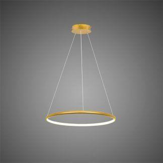 lampa wisząca led złoty ring