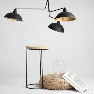 lampa wisząca loftowy design czarne klosze