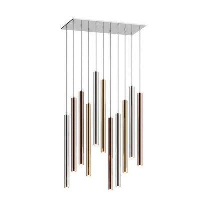 lampa wisząca nad stół modne odcienie metalu