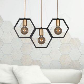 lampa wisząca plaster miodu aranżacja