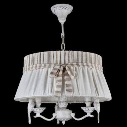 lampa wisząca shabby chic kremowy abażur