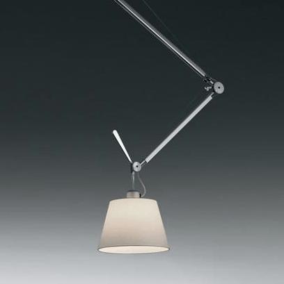 srebrna lampa wisząca z regulacją biały abażur