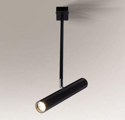 lampa wisząca z czarnym reflektorem