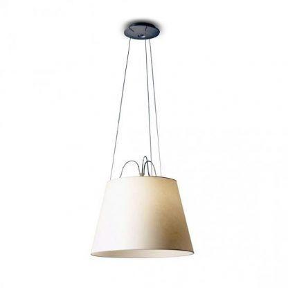 lampa wisząca z dużym abażurem nowoczesna