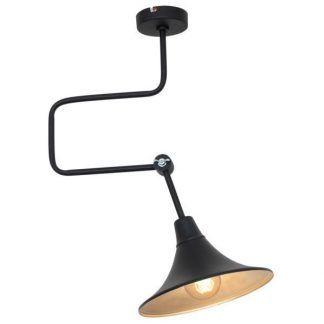 lampa wisząca z geometryczną podstawą regulowana