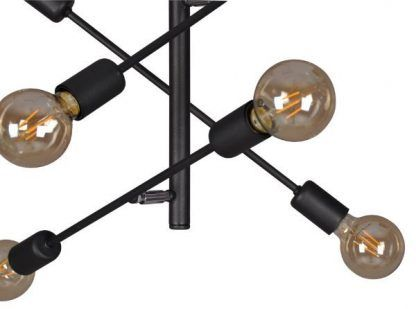 lampa wisząca z regulowanymi ramionami czarny metal
