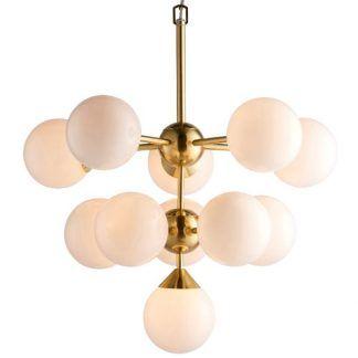 lampa wisząca złota baza szklane klosze
