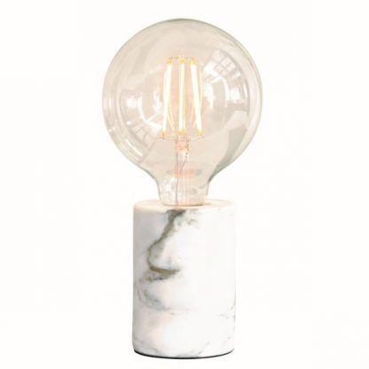 lampka nocna z białego marmuru