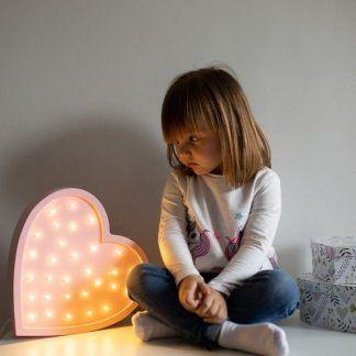 lampka serduszko do pokoju dziecięcego