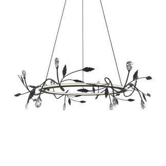 ledowa lampa wisząca glamour listki elegancka