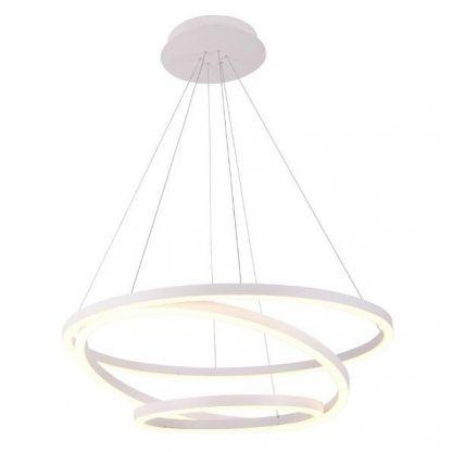ledowa lampa wisząca ring biały