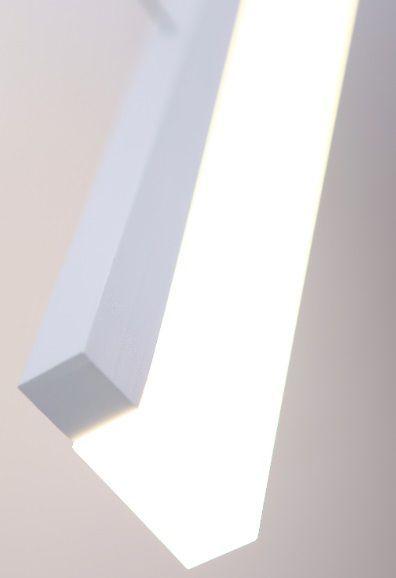 ledowa nowoczesna lampa w białej oprawie
