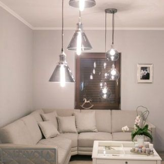 loftowa lampa do nowoczesnego salonu