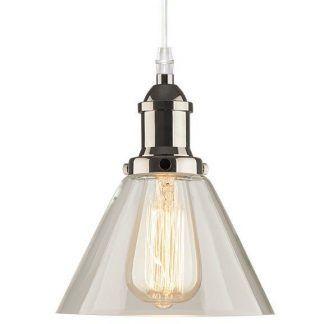 loftowa lampa wisząca stożkowy klosz