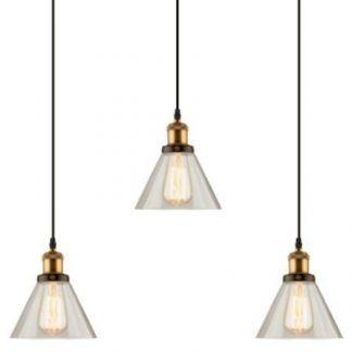 loftowa miedziana lampa wisząca do kuchni