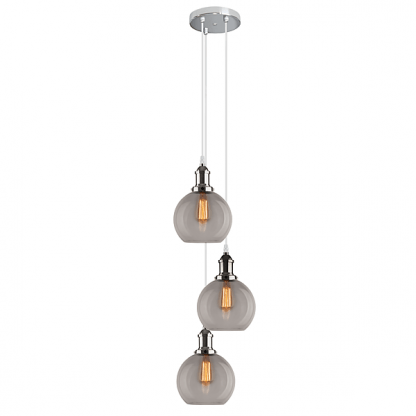 loftowa srebrna lampa wisząca do kuchni