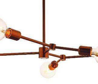 modułowa lampa wisząca miedziana