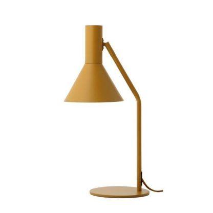 musztardowa lampa stołowa nowoczesna