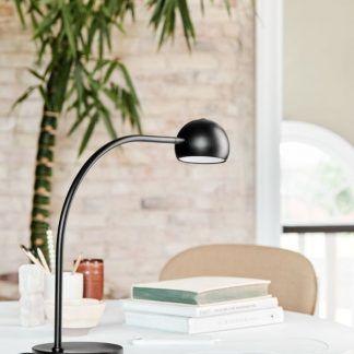nowoczesna lampa biurkowa z USB czarna