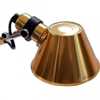 nowoczesna lampa biurkowa złoty połysk