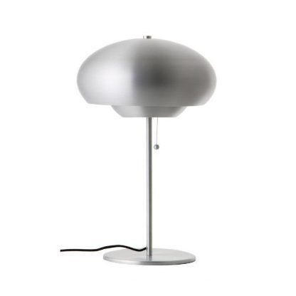 nowoczesna lampa stołowa srebrna