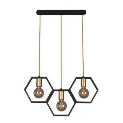 nowoczesna lampa wisząca nad stół czarna
