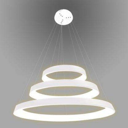 nowoczesna lampa wisząca ringi led biała