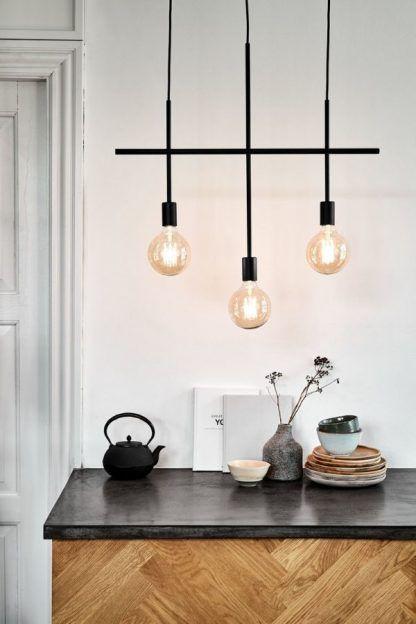 nowoczesne oświetlenie nad blat czarna lampa