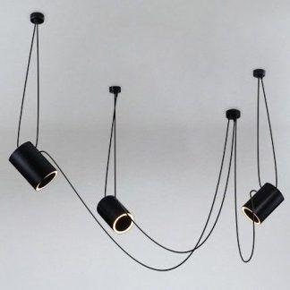 nowoczesny żyrandol z regulowanymi zawieszeniami