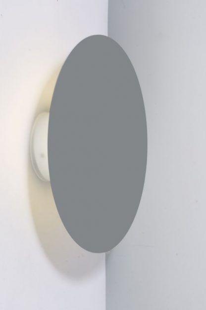 okrągły designerski kinkiet szary