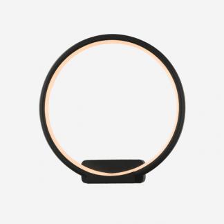 okrągły kinkiet led czarna obręcz