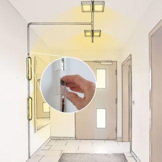 Przełącznik liniowy Urail - biały, system szynowyoświetlenie szynowe schemat z włącznikiem