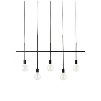 podłużna lampa wisząca czarna industrialna