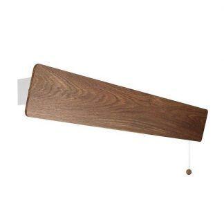 podłużny kinkiet drewniana listwa