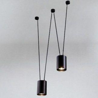 podwójna lampa wisząca czarna nad blat