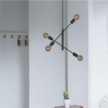 podwójna lampa wisząca z regulowanymi ramionami