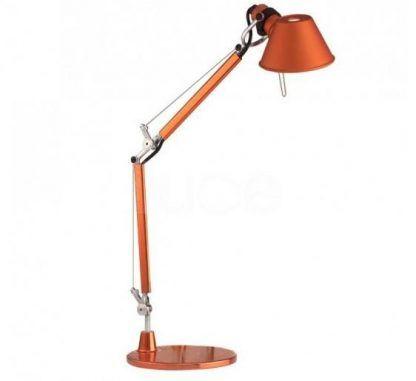 pomarańczowa lampa biurkowa połysk nowoczesna