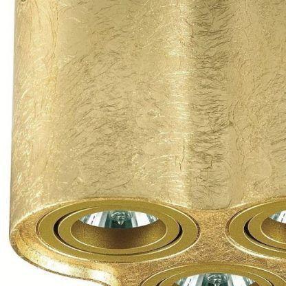 potrójny spot sufitowy złota struktura