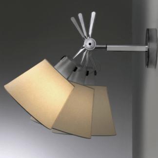 regulowany kinkiet z pergaminowym abażurem