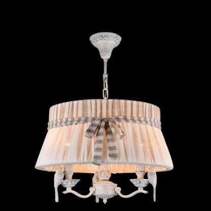 rustykalna lampa wisząca z abażurem