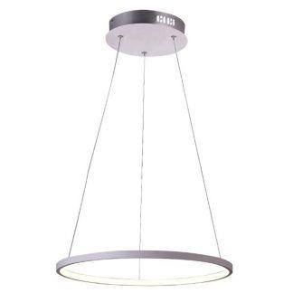 satynowa lampa wisząca led ring