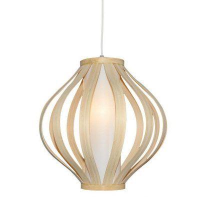skandynawska lampa wisząca jasne drewno