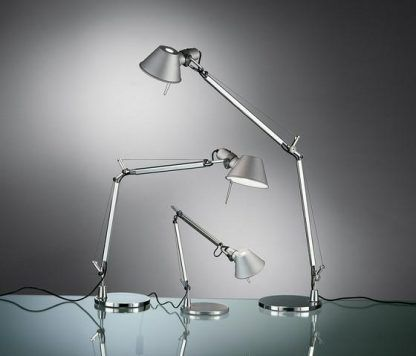 srebrna lampa biurkowa różne rozmiary