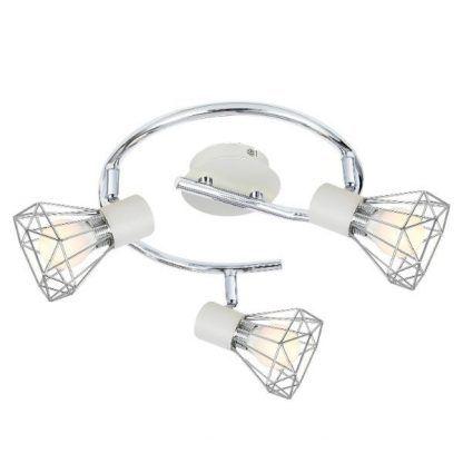 srebrna lampa sufitowa ażurowe klosze
